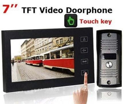 7 дюймов TFT сенсорный экран цветная видеокамера ночь версия домофон H461