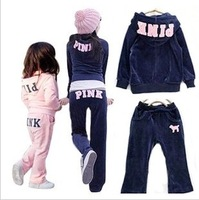 girls clothing dress new 2013 autumn embroidered velvet clothing sets 1.44kg x 5sets lot sale children outerwear supernova sale