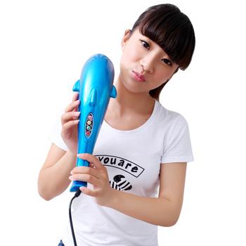 Multifunctional electric waist massage device neck big massage stick dolphin massage
