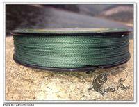 """free shipping""  150 yards 6LB-80LB green  4 wire 100% PE braided  fishing line fishing tackle"