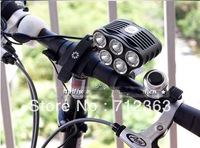 Free DHL,5SET  TrustFire D010 5 x CREE XM-L T6 LED Bike light 5 Mode 2800 Lumens Bicycle Light Lamp + 5200mah Battery Pack