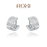 ROXI fashion new arrival,Exquisite white-plated earrings,China's wind,women trendy earrings Chrismas /Birthday gift