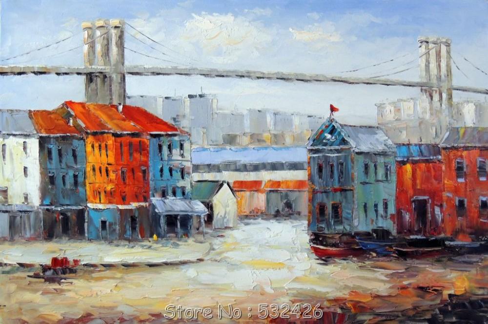 New york brooklyn bridge waterfront manhattan paysage for Art et maison new york