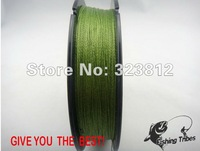 """""""free shipping""""  150 yards 6LB-80LB grass green  4 wire 100% PE braided  fishing line fishing tackle"""