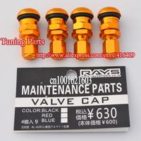 High quality Rays aluminum vacuum tire valves tireless valve color gold
