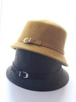 Brief all-match winter women's fedoras solid color woolen knight cap bucket hat  Fashion scarf hat glove