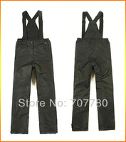 Free Shipping High Quality Kids Junior Outdoor Ski Pants Snowboard Suspenders Pants Size Available S-XL Black / Grey (SI021) !!