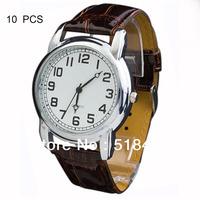 10 Pcs  Mens Analog Casual Fashion Gift Dress Quartz Wrist Watches  Good Price