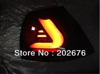 FREE SHIPPING, 2003-2009 VOLKSWAGEN VW GOLF 5 V BLACK LED AUTO TAIL LIGHT REAR LAMP ASSEMBLY