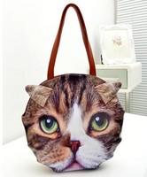 2013 new fashion animal printing bags women messenger bag cat head print bag dog print bag women messenger bags leather handbags