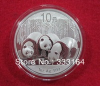 2013 Panda gold coin Panda 1 oz silver coin Hot Sell NEW free shipping chinese china