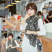 Leopard scarf newest autumn scarf wholesale black lady cotton scarf Hot sale!! Factory price!!
