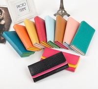 new fashion Vintage embossed stone pattern double layer color block multifunctional women lady wallet long design purse handbag