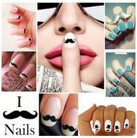 wholesale Beard nail stickers W01-24