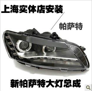 Refires headlight assembly vw passat belt angel eye bifocal lens dacryops lamp headlight conversion(China (Mainland))