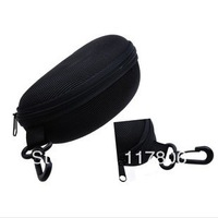 Free Shipping Hook and zipper Sunglasses Glasses Box Oversized Top grade Travel Glasses Case Eyewear Cases & Bags GL24