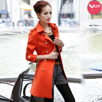 Long design wool coat female ny839 slim elegant 2013 woolen outerwear