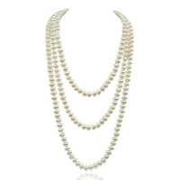 K206 gift fashion vintage pearl multi-layer long necklace design all-match necklace