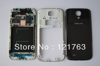 New Original For Samsung Galaxy S4 I9500 Bezel frame+Middle housing+ Back cover battery door housing case Black color