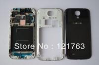 New Original For Samsung Galaxy S4 I9500 Bezel frame+Middle housing+ Back cover battery door housing case Black color