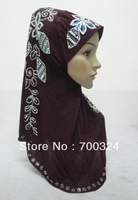 H625 new styles gorgeous rhinestones hijab,muslim scarf,fast delivery,assorted colors