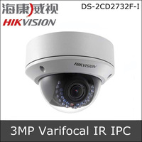 Hikvision DS-2CD2732F-I 3.0MP VF IR Dome Network Camera 2.8-12mm Vari-focal Lens Up to 20m IR Visibility Support Storage POE