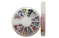 Nail art tools supplies nail false nail tips nail art rhinestone pasted nail polish oil accessories 2.5mm