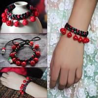 Hand-woven red string bracelet red bell evil bracelet transhipped bracelet female