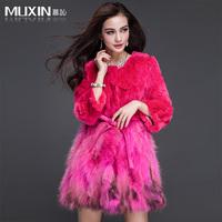 2013 fur coat sleeve o-neck wrist-length sweep medium-long raccoon fur coat