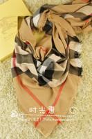 2013 scarf b classic plaid large facecloth tassel plaid large cape