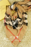 2013 scarf b classic plaid large facecloth tassel plaid large cape