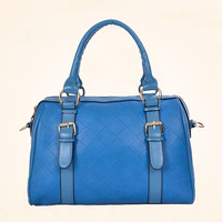 2013 women's handbag fashion plaid embossed handbag messenger bag bucket bag