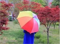 2013 Free Shipping  New Design rainbow umbrella water sun umbrella