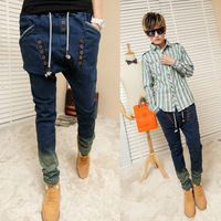 2013 tidal current male jeans personality of the boys large crotch pants middlelowlevel harem pants harem pants skinny pants