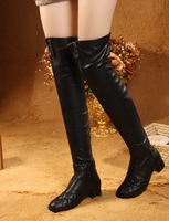 Free shipping ladies real genuine leather over knee boots fashion high heel women boot quality  shoes    ,  size 35-40