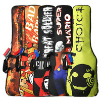 Padded Electric Guitar Bass Big Bag, Cartoon Style, oxford leather materials soft Case. free shipping