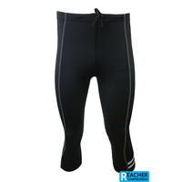 mens 3/4 compression tights tight base layer skins running run Fitness Excercise cycling Clothing shorts  gear Lycra