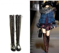 2013 fashion lady warm flat ankle over knee high snow motorcycle boots for women and women's winter shoes #Y10597Q