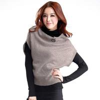 2013 autumn and winter women basic turtleneck sweater casual batwing shirt outerwear twinset
