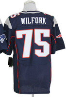 2013 New Arrival!!!American Elite Football Jersey #75 Vince Wilfork Blue Elite Jerseys Men's Size 40-56 All Stitched(Sewn on)