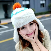 Winter Hat Earflap Russian Trooper TRAPPER Faux SKI BEANIE HATS CAPS Women White CRMZ014