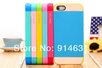 Free shipping 10pcs/lot  South Korea double color mix jelly color matching protective back case for iphone5c TPU+PC  Case