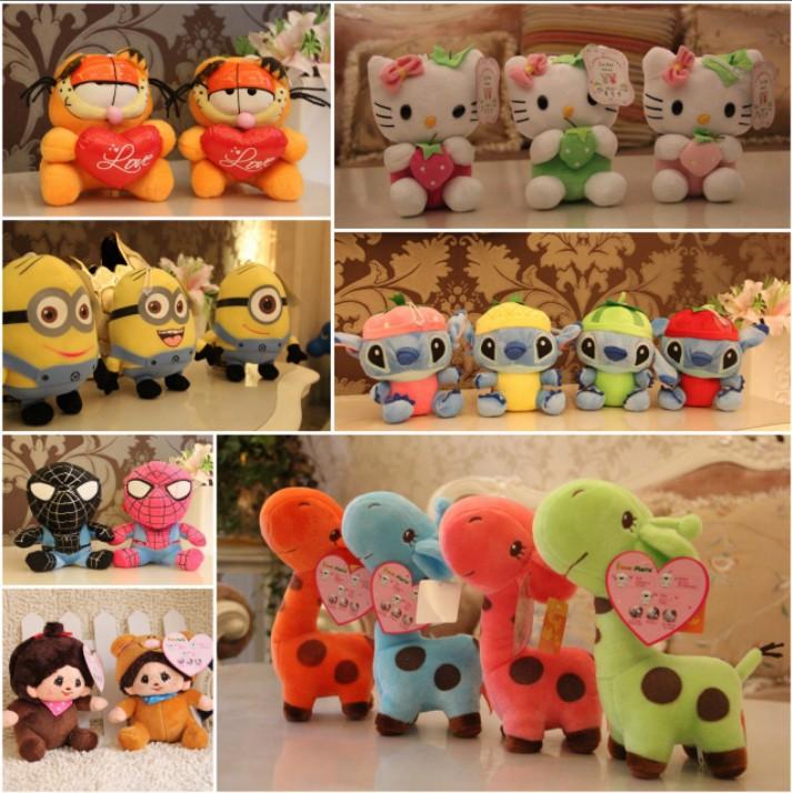 wholesale 18 cm plush cartoon & animal toy recording & talking toys(12 s), 7'' novelty stuffed toy, 6 pcs/lot, free shipping(China (Mainland))