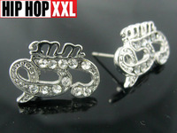 Gunit 50 hiphop fashion stud earring earrings hiphop earring