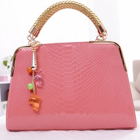 2013 boutique bags serpentine pattern tassel hangings women's handbag sweet gentlewomen one shoulder cross-body handbag