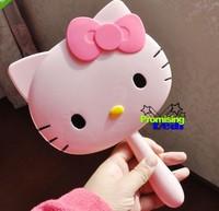 Cute Hello Kitty Handheld Portable Make-up Mirror Cosmetic Pocket Mirror