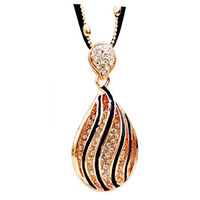 K060 accessories leopard print crystal drop long necklace fashion design necklace long necklace female