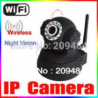 Free shipping Black Wireless IP Camera F2098A P2P Dual Audio IR Night Vision Monitor