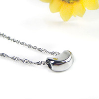 Fashion brief s925 pure silver pea pendant necklace inlaying girlfriend gifts memorial gift Christmas presents
