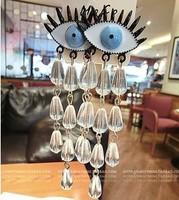 earrings for women fashion 2013 free shipping eyes transparent teardrop crystal earrings